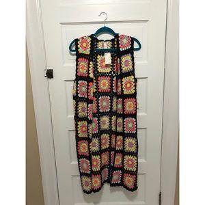 NWT colorful knit vest